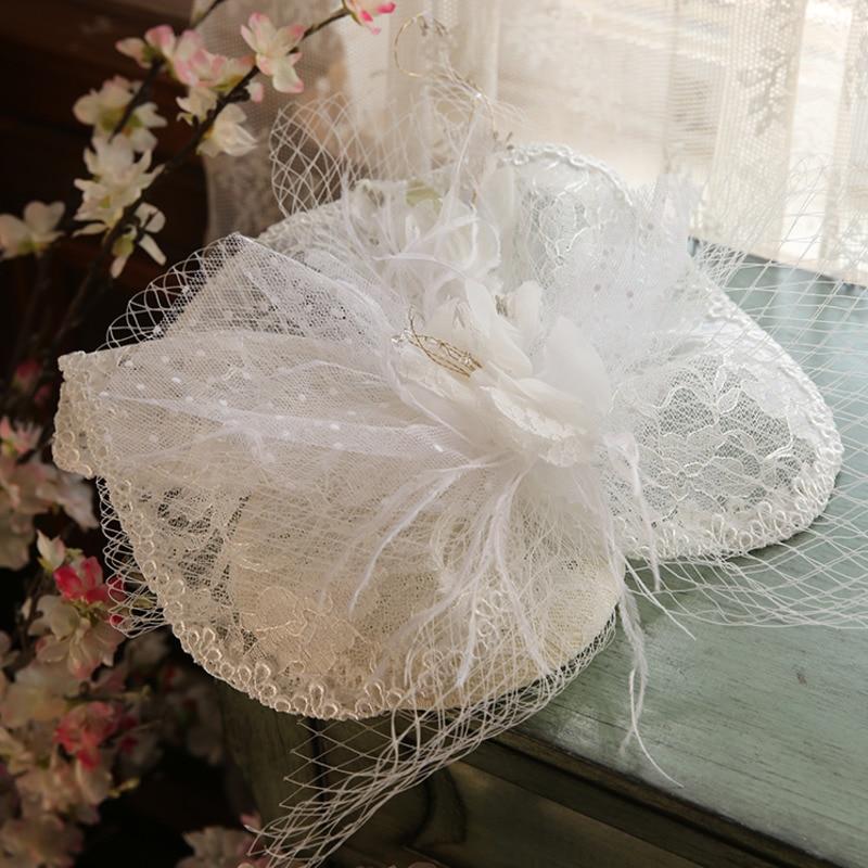 Bridal Veil Net Hats White Birdcage Veils Wedding Hats Bridal Fascinator Face Veils Pearls Bride Hats