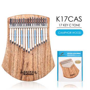 B Tone GECKO Kalimba 17 Keys Solid Camphorwood,with Instruction and Tune Hammer, Portable Thumb Piano Mbira Sanza K17cas