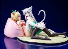 Akashic Records of Bastard Magic Instructor Sistine Fibel & Rumia Tingel Cat Ver. 1/7 Scale PVC Action Figure Sexy Girls Toys