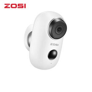 Image 1 - ZOSI WiFi 카메라 충전식 배터리 전원 1080P 풀 HD 야외 실내 IP65 비바람에 견디는 보안 무선 IP 카메라