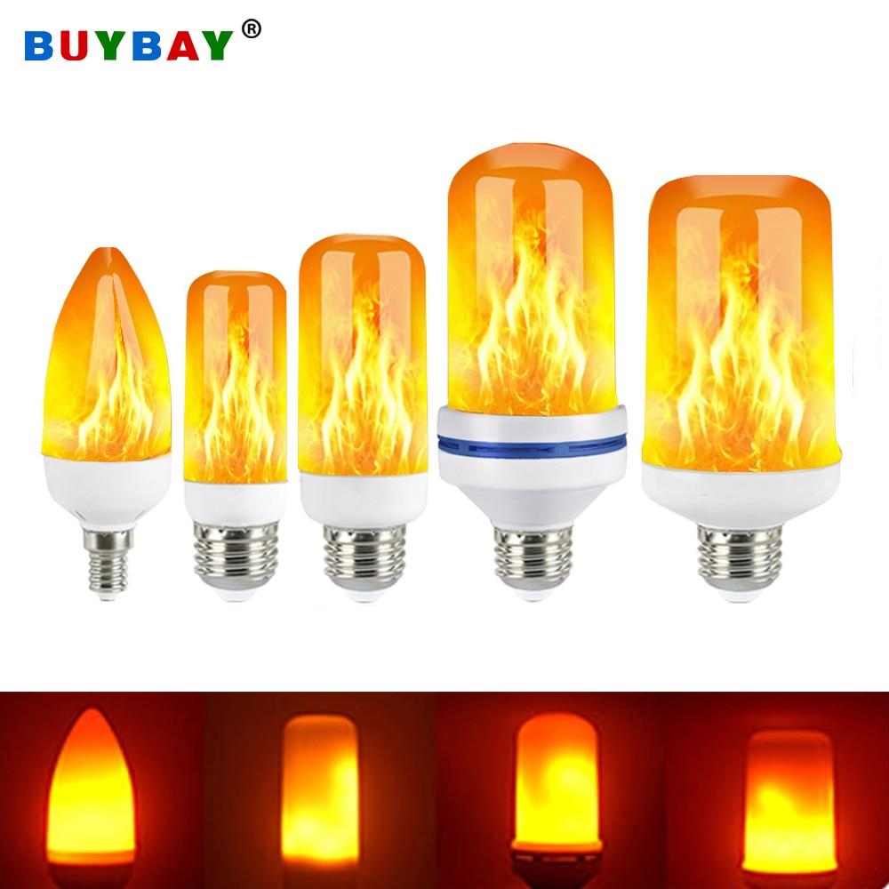 2020 Nieuwe E27 Vlam Lamp Led Dynamische Vlam Effect Fire Gloeilampen Corn Bulb Creatieve Flickering Emulatie Decor Led Lamp lichten