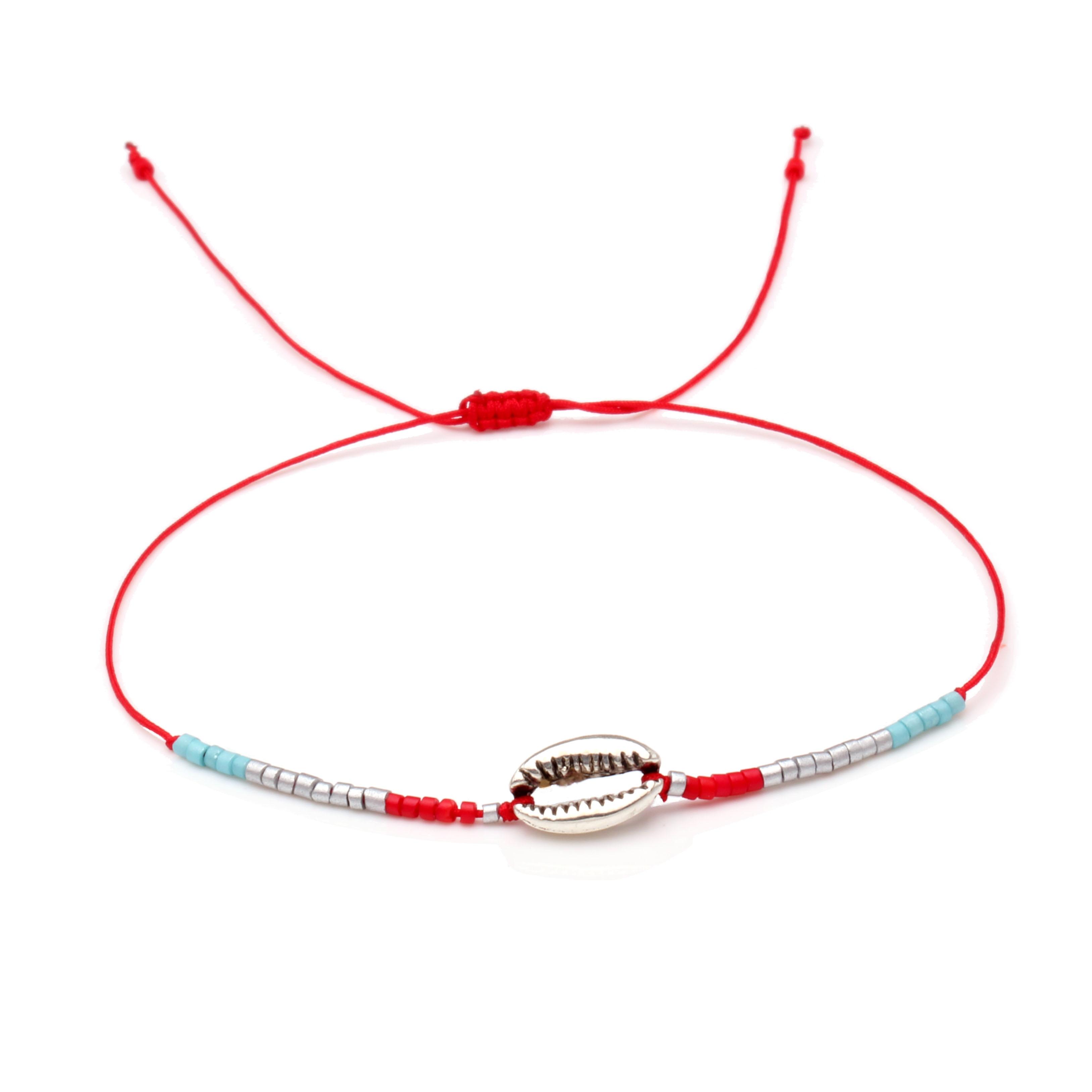 Metal Alloy Shells Miyuki Glass Seed Beads Tiny Bracelet Women Men Gorgeous Dainty Low-key Simple Handmade String Beach Jewelry(China)