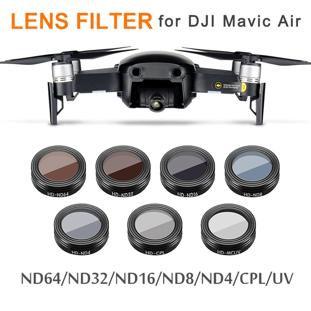 Mavic Air Thread Filter UV/ND4/ND8/ND16/ND32/CPL Lens Filters Kit For DJI Mavic Air Drone Camera Ultralight Lens Kit Accessories