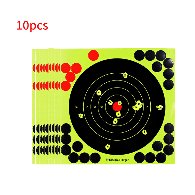 10pcs/Lot Splash Flower Target 8Inch Adhesive Indoor Reactivity Shoot Target Lightweight Portable Aim For Rifle / Pistol Binders