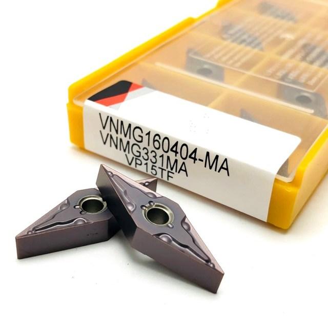 Carbide insert VNMG160404 MA VP15TF high precision external metal turning tool lathe tools CNC machine parts turning blade