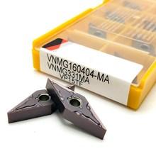 Карбидная вставка VNMG160404 MA VP15TF, высокоточный внешний токарный инструмент для металла, токарные инструменты, детали для станков с ЧПУ