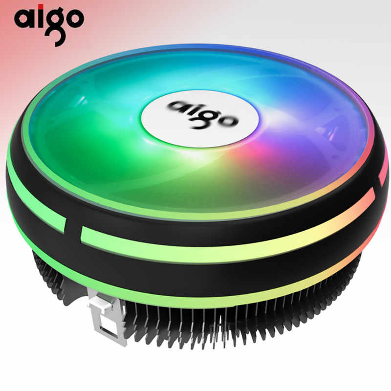 Aigo CPU Koeler LED 120MM CPU Cooling Fan cpu cooler LGA/115X/775/AM3/AM4 4Pin PC CPU Cooling Radiator Koellichaam i3/i5/cpu fans
