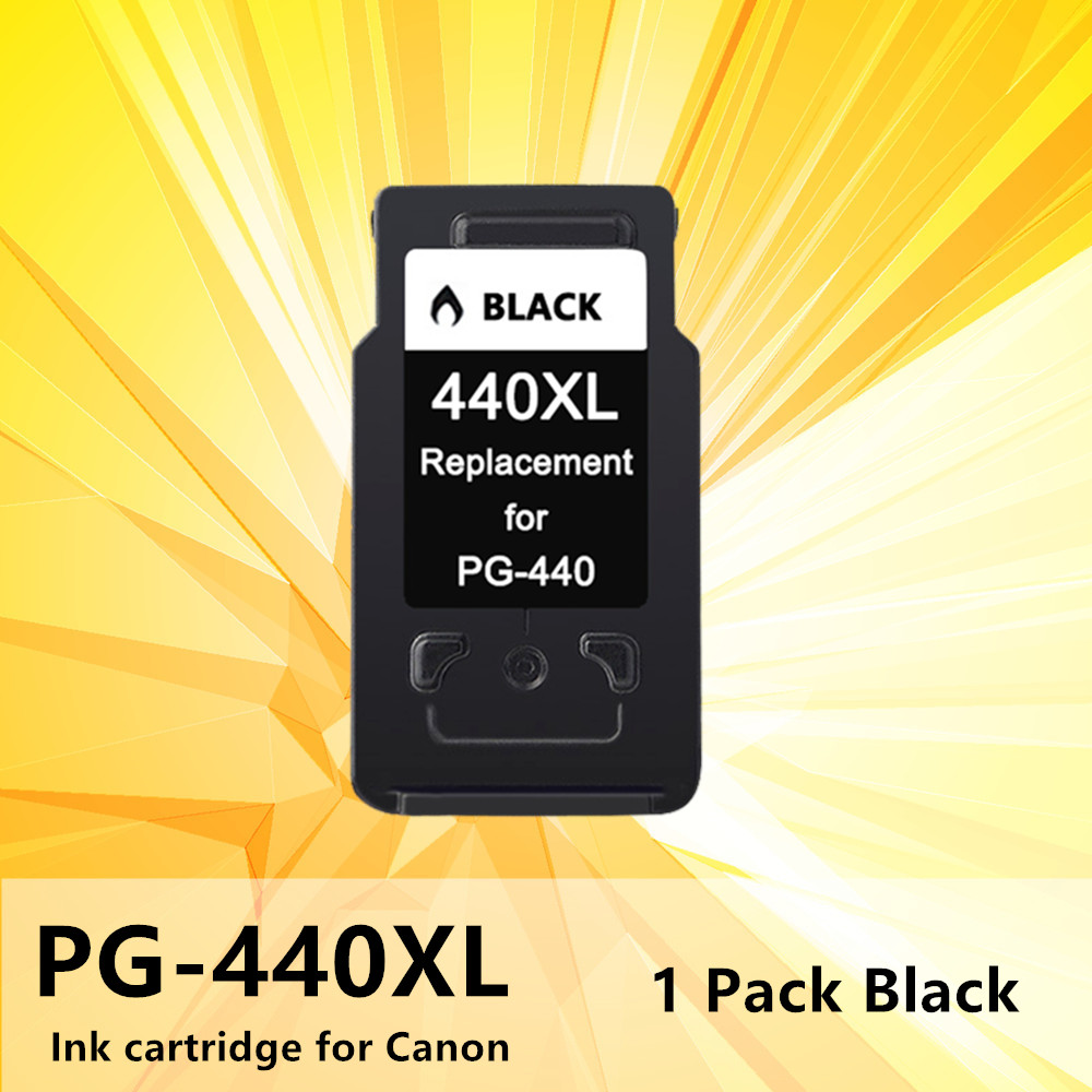 440XL 441XL Ink Inkjet Cartridge black PG440 PG <font><b>440</b></font> 441 <font><b>XL</b></font> for <font><b>Canon</b></font> Pixma MG2180 3180 4180 4280 MX438 518 378 printer image