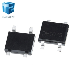 GREATZT 10PCS SMD DB107 DB107S 1A 1000V Single Phases Diode Rectifier Bridge