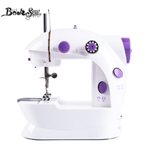 Booksew Sewing Machine Portable Cutter Light Foot Pedal Straight Line Hand Table Two Thread Mini Household Kit Electric Machine