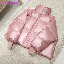 2019 Female Glossy Down Parka Winter Jacket Women Large Sizes Thick Dow