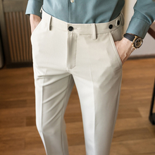 2020 Spring Dress Pant Slim Fit Pants Fashion Solid Suit