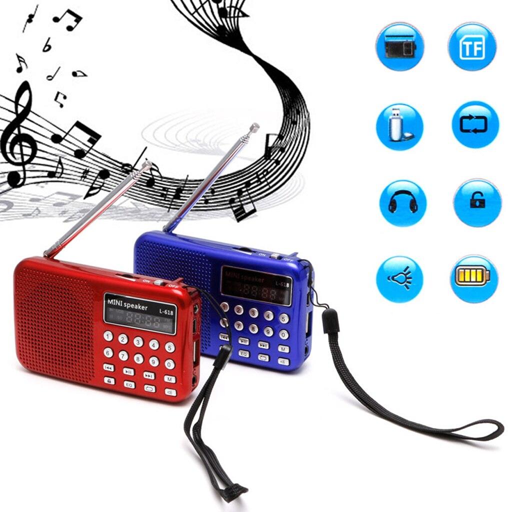 Мини LCD цифровой аудио fm радио динамик USB Micro SD TF карта MP3 музыкальный плеер|Радиоприёмники|   | АлиЭкспресс