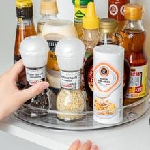 360 Вращение шкафа, органайзер, хранилище, сумочка, специи напиток стойка для хранения косметики прозрачная ПЭТ-проигрыватель для Кухня Ванн...