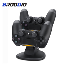 Dual USB PS4 Controller Charger Dock LED Charging Stand Station Cradle for Sony Playstation 4 PS4 / PS4 Pro /PS4 Slim Controller gamepad charger dock ps4 led dual usb charging stand station cradle for sony playstation 4 ps4 pro ps4 slim controller