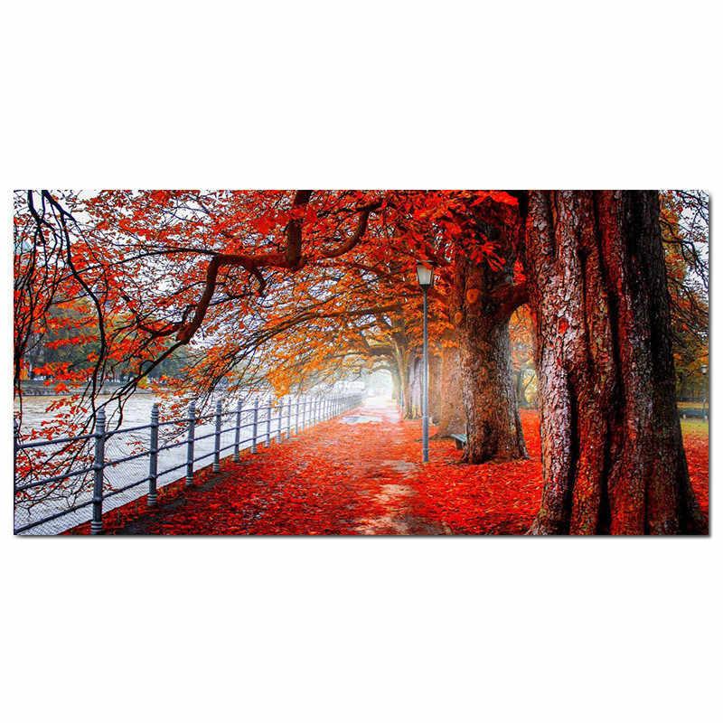 Seaan現代キャンバス絵画壁の芸術グスタフ · クリムト樹マングローブ森林景観プリント家の装飾のための写真