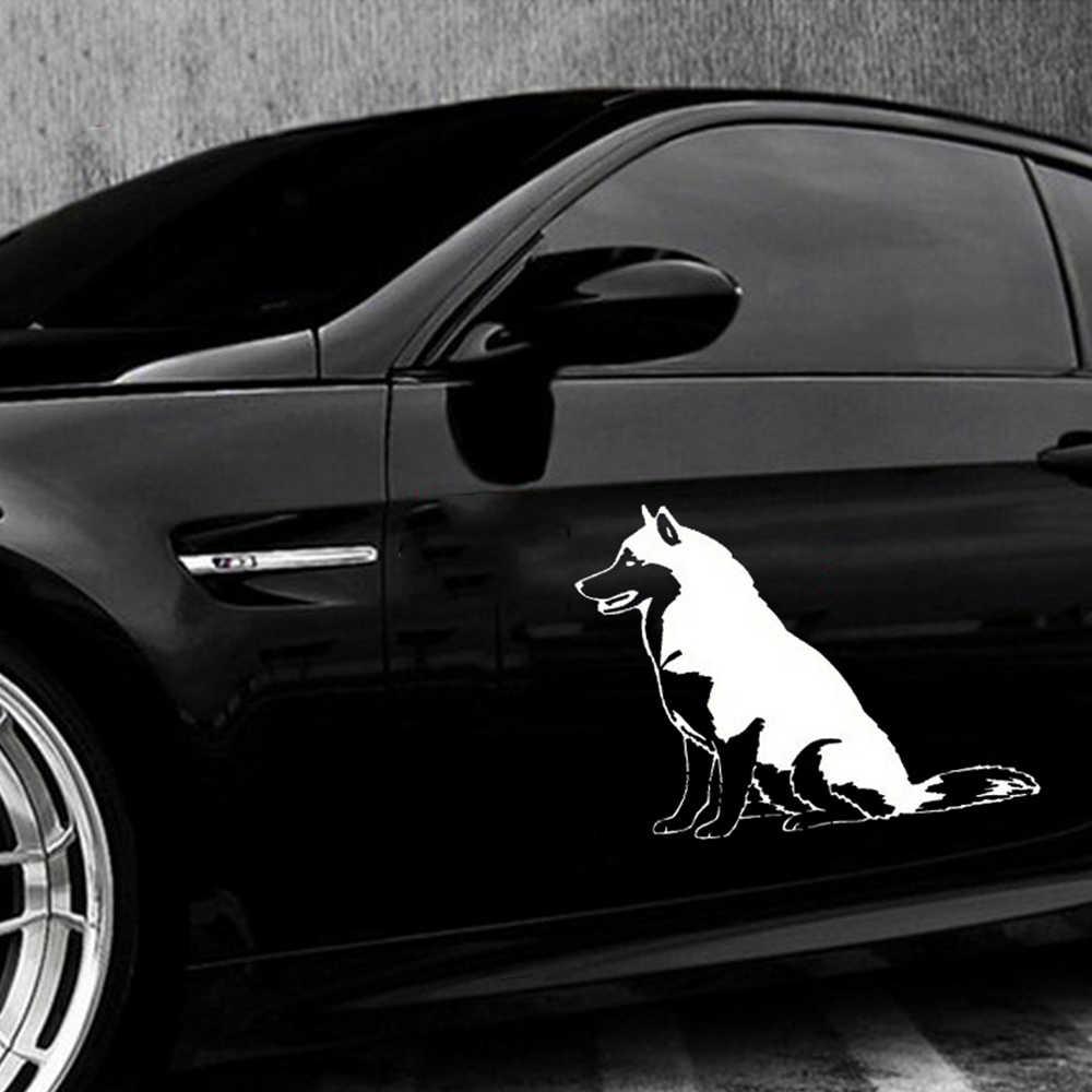 12*13,7 см Автомобильная наклейка сибирская Хаски виниловая собака Авто Наклейка и наклейка автомобильный Стайлинг Внешнее украшение для автомобильных аксессуаров