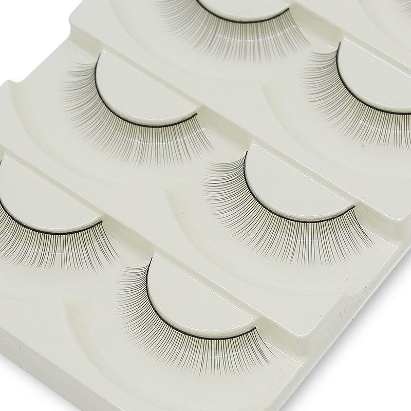 Kimcci 5 Pairs Training Eyelash Practice False Lash For Grafting Eyelash Extendsion New Begainer Make Up Professional Tool Salon