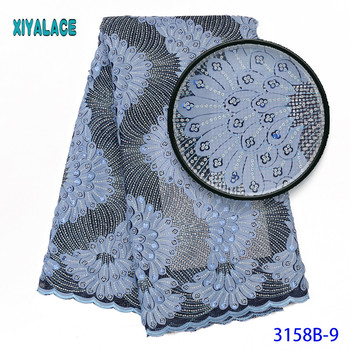 African French Lace Fabric High Quality Nigerian Party Lace Fabric Embroidery French Lace With Sequins For African Lace 3158b