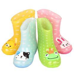 Klasyczne dziecięce buty guma PVC dziecięce dziecięce buty z obrazkami buty do wody wodoodporne kalosze maluch dziewczyna Rainboots 7479