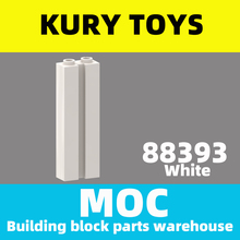 Building-Block-Parts Modified-Brick Kury-Toys MOC DIY for 88393 with Groove
