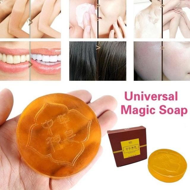 1 PC Oil Control Soap Body Skin Exfoliating Whitening Natural Bath Shower Remover Cleansing Magic Soap 4