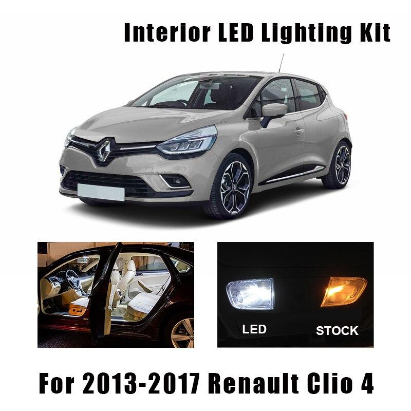 8pcs Canbus Error Free LED Bulbs Interior Reading Trunk Light Kit For 2013-2017 Renault Clio 4 IV MK4 License Plate Lamp