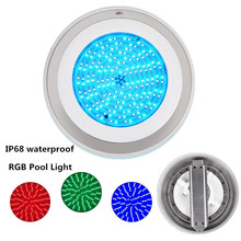 Ip68 Led Rgb Pool Light Waterproof Underwater Lighting Par56 Led Underwater Lights for Pools 316 Stainless Steel  AC12V 18W Pond hot sale stainless steel pc remote control underwater light ip68 par56 72w rgb ac12v led swimming pool light safe in used