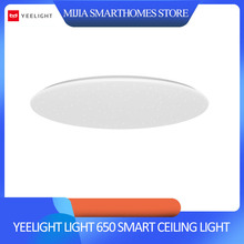 Xiaomi yeelight led teto pro 650mm rgb 50 w mi casa app controle google casa para amazon echo para xiaomi kits de casa inteligente