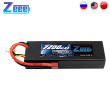 Zeee 7200mAh RC LiPo Batteries for RC 2S 80C LiPo 7.4V with Deans T Plug for RC Car Vehicle Truck Boat Losi Traxxas Slash Truggy 10x mini t plug deans connectors mini deans ultra plug deans high quality