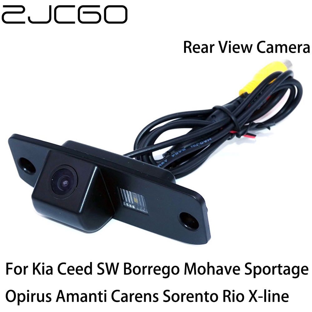 ZJCGO Car Rear View Reverse Back Up Parking Camera For Kia Ceed Borrego Mohave Sportage Opirus Amanti Carens Sorento Rio X-line