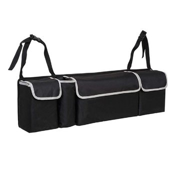 Torba do przechowywania do bagażnika z tkaniny Oxford do przechowywania w obudowie do samochodu akcesoria schowek w obudowie do samochodu organizator samochodu akcesoria do wnętrz tanie i dobre opinie CN (pochodzenie) Bagażnik Box Torba Oxford cloth black 90*25*12cm 1 * Car trunk storage bag