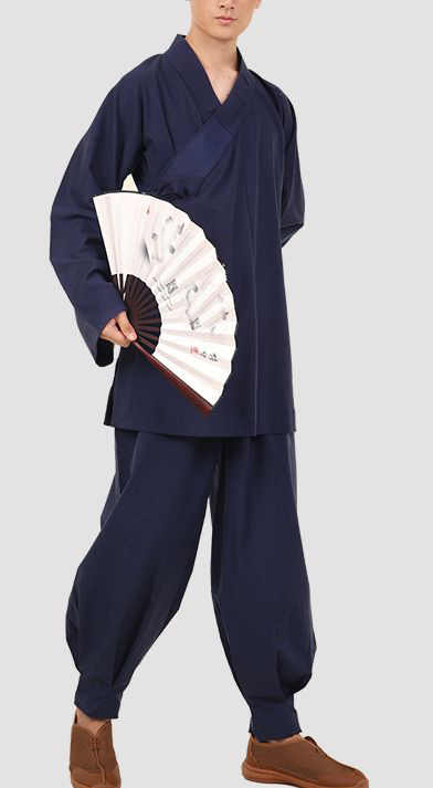 Unisex wysokiej jakości bawełny i lnu wiosną i jesienią mnich shaolin kombinezony kung fu lay odzież do medytacji zen arhat sztuk walki mundury