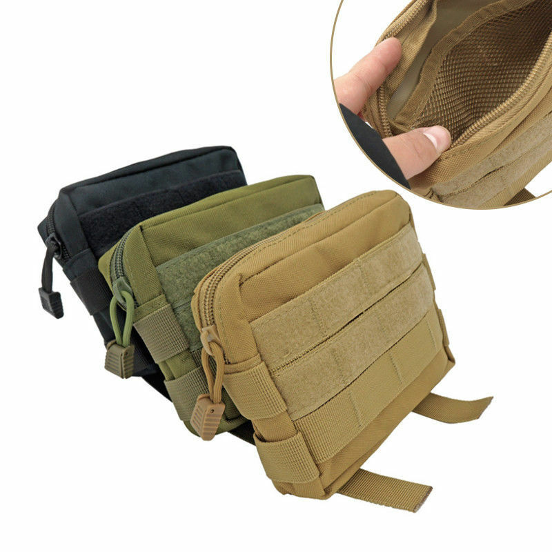 Outdoor Tactical Pouch EDC Nylon Molle Utility Organizer Pouch Waist Pack Pouch Storage Bag Waterproof Phone Holder Case Pouch