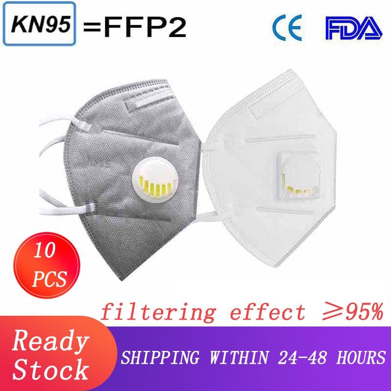 KN95 Dustproof Air Filter FFP3 Mask With Breathable Valve PM2.5 Dust Mask Respirator Men Women Dust Mask Respirator FFP2