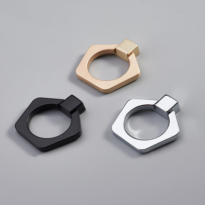45mm Simple Drawer Pull Ring Pull American Door Handles Mini Knob Black Gold Chrome Exquisite Decoration Furniture Accessories