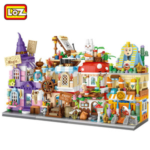 LOZ NEW ARRIVE Blocks City View Scene Coffee Shop Retail Store Architectures Models & Building Quiz Christmas Toy for Children