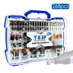 268PC Abrasive Rotary Tool Accessories Set Electric Mini Drill Bit Kit for Dremel Sanding Polishing Cutting Engraving Tool Heads