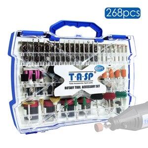 "Image 1 - 268pcs Electric Mini Drill Bit Kit Abrasive Rotary Tool Accessories Set for Dremel Grinding Sanding Polishing Cutting 1/8"" Shank"