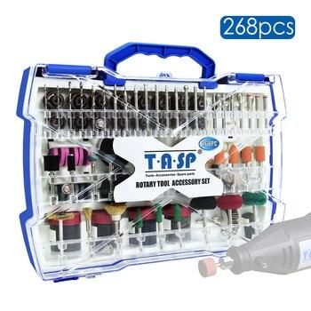 268pcs Electric Mini Drill Bit Kit Abrasive Rotary Tool Accessories Set for Dremel Grinding Sanding Polishing Cutting 1/8