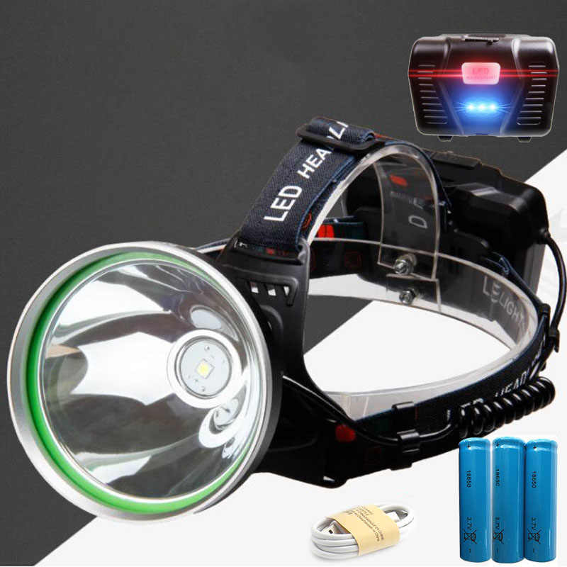 USB de Carga para Exteriores Cabeza port/átil para Pesca Zerone L/ámpara de Cabeza para Exteriores Camping Linterna para Faros LED