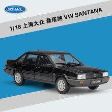 цена на Welly GTA1: 18 Shanghai Volkswagen Santana Simulation Alloy Car Model Collection Gift Decoration toy
