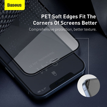 Закаленное стекло Baseus 2 шт. 0,23 мм для iPhone 12 11 Pro XS Max XR X