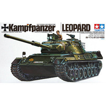 Tamiya 35064 1/35 Scale West German Kampfpanzer Leopard Medium Main Battle Tank MBT Toy Plastic Assembly Building Model Kit