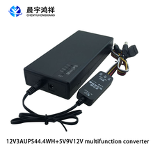 Mini ups portáteis, com 5v/9v/12v/dc interface e saída de porta usb, 44.4wh multifuncional fonte de alimentação alternativa ininterrupta