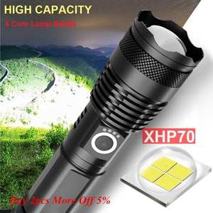 LED Flashlight Usb-Zoom-Torch Most-Powerful XHP50 120000 Lumens Rechargeable XHP70.2