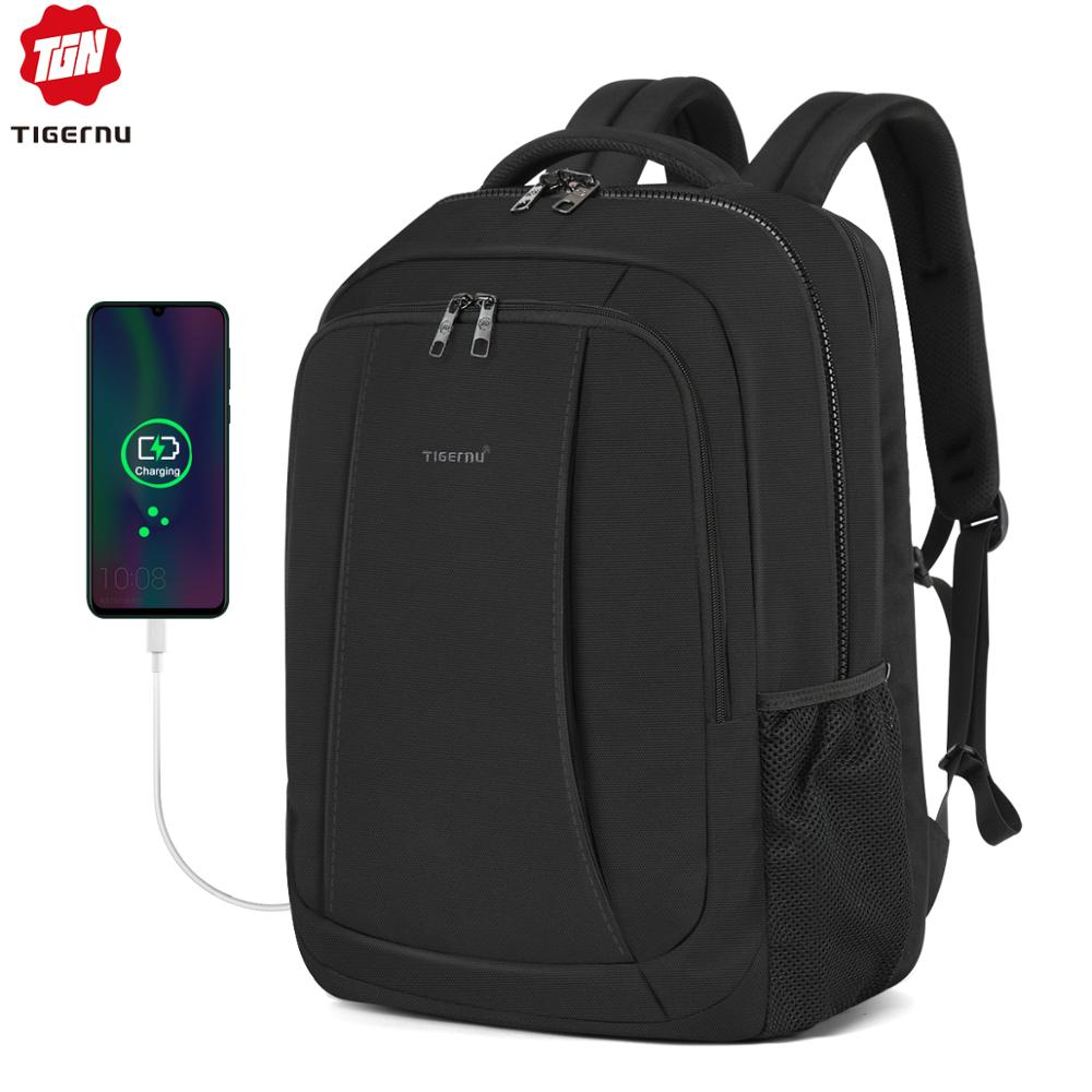 Tigernu New Man Backpack Fit 17 Inch Laptop USB Charging Backpack Male Back Pack Anti Theft Mochila