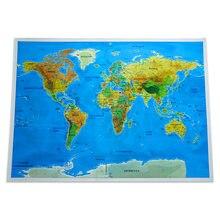 Стираемая Карта путешествий по миру большого размера стираемая
