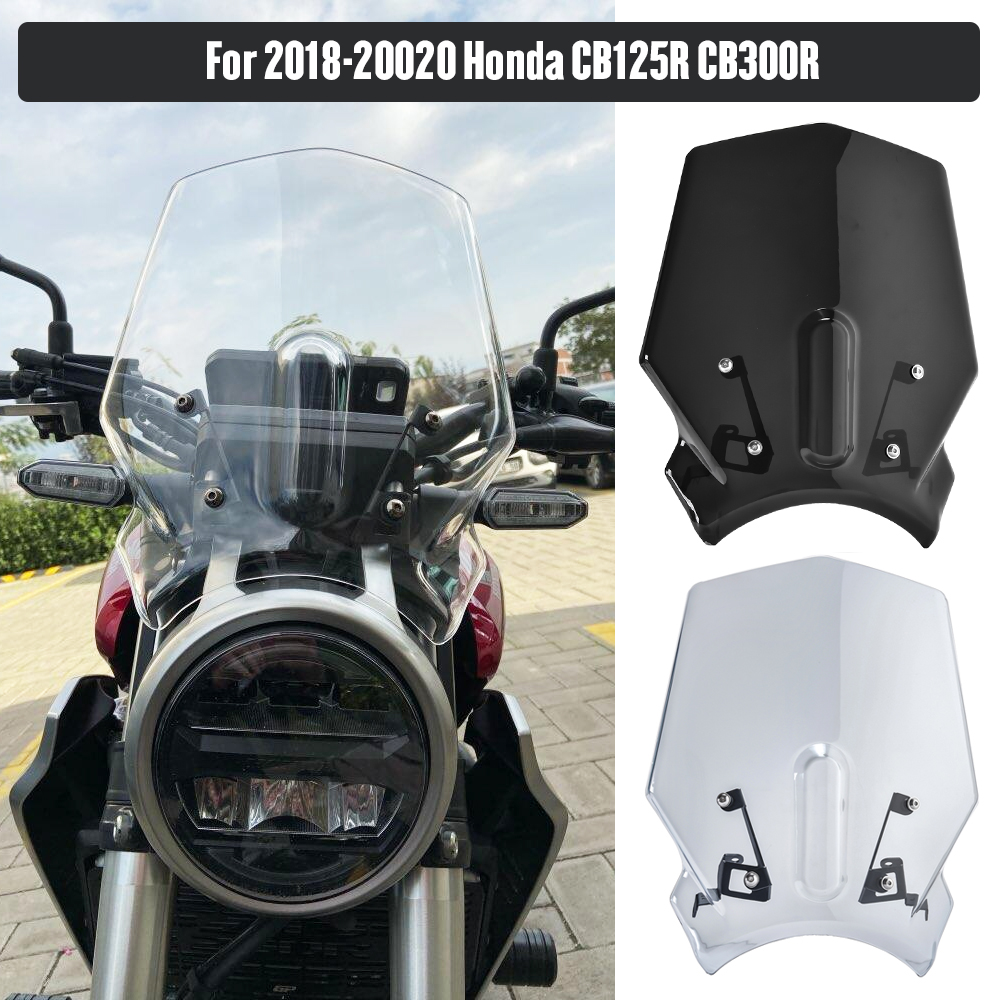 Motorcycle Windshield Windscreen Protector For Honda CB125R CB250R CB300R NEO Sports Cafe CB 125R 250R 300R 2018 2019 2020 Smoke