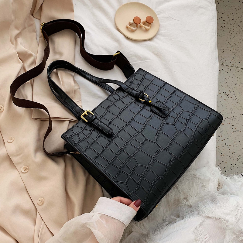 Stone Pattern Shoulder Bag Women Travel Bags Leather Pu Quailty Bag Female Luxury Handbags Women Bags Designer Sac A Main Femme